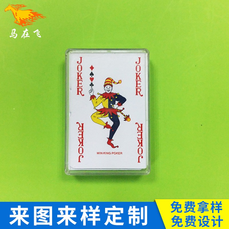 WINKING Plastic Box PVC Advertising Playing Cards